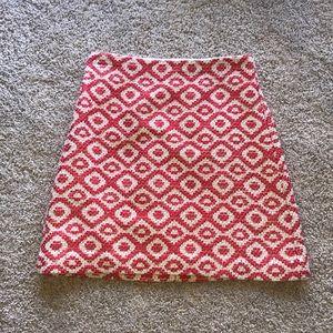 Loft coral patterned skirt